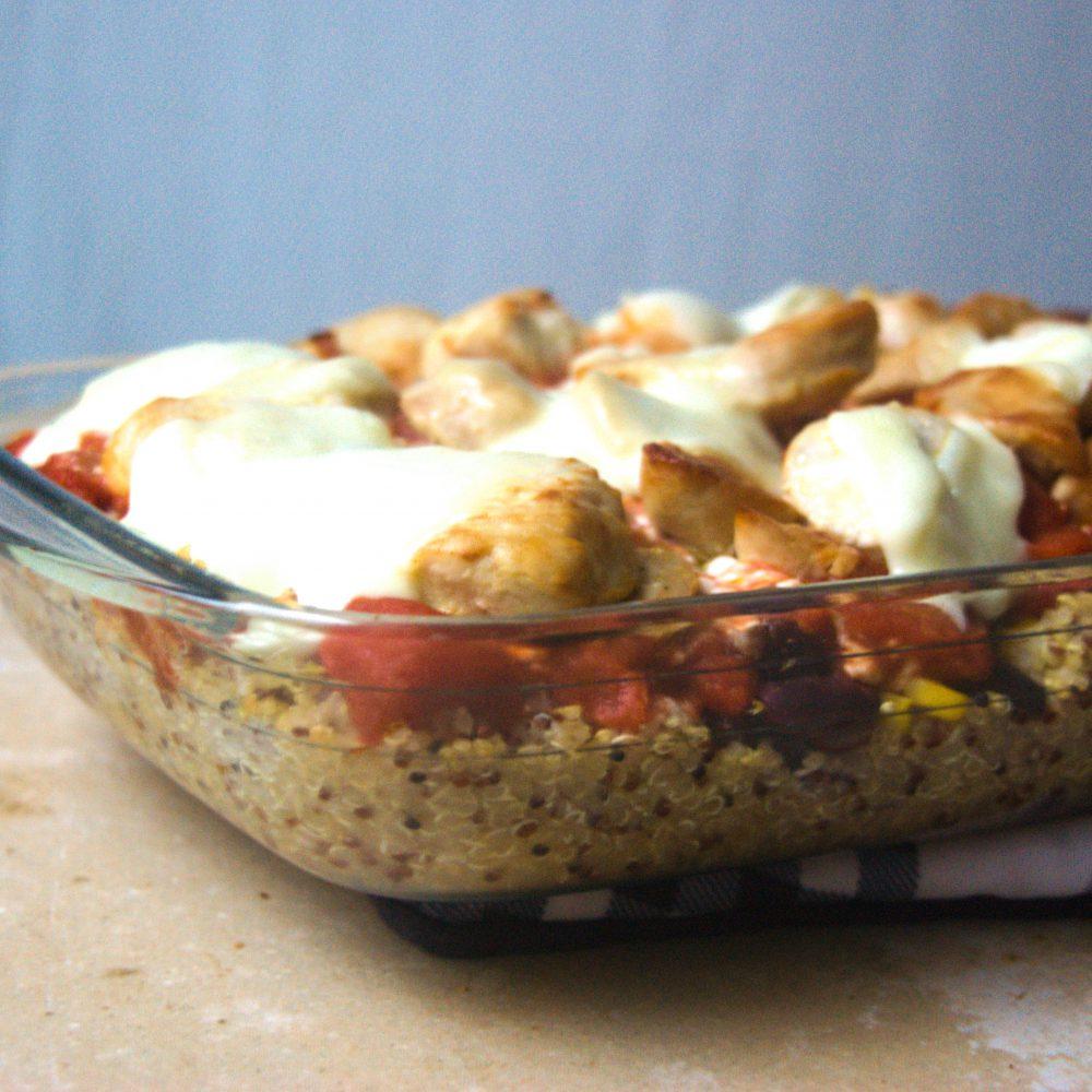 schneller und gesunder quinoa auflauf